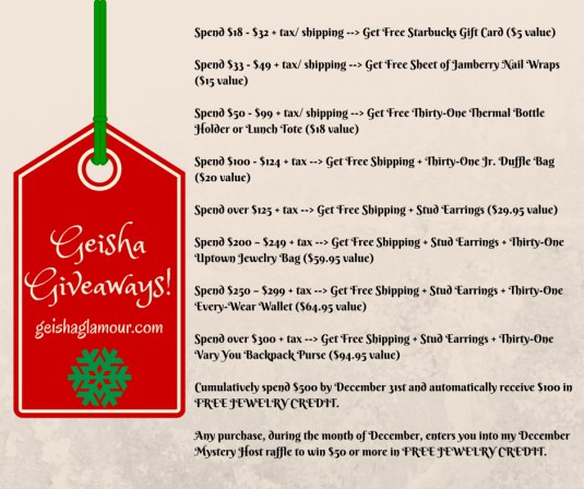 Geisha Giveaways! Wreath-Snowflake