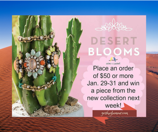 Desert Bloom Giveaway~ geishaglamour.com